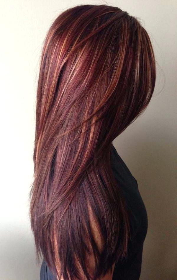 гранатовый цвет волос фото
