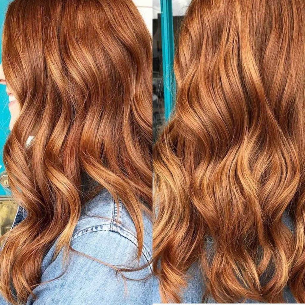 медовый рыжий оттенок волос