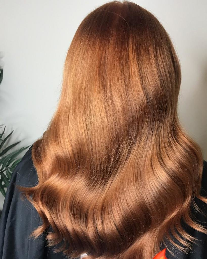 карамельный рыжий цвет волос