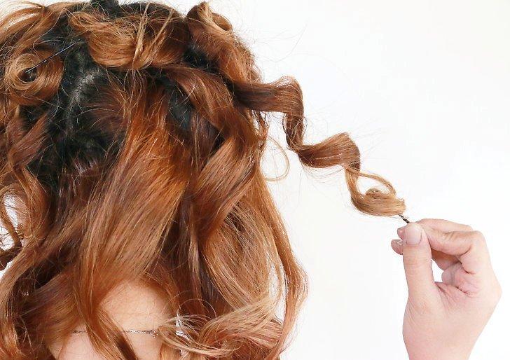Кудри при помощи выпрямителя для волос