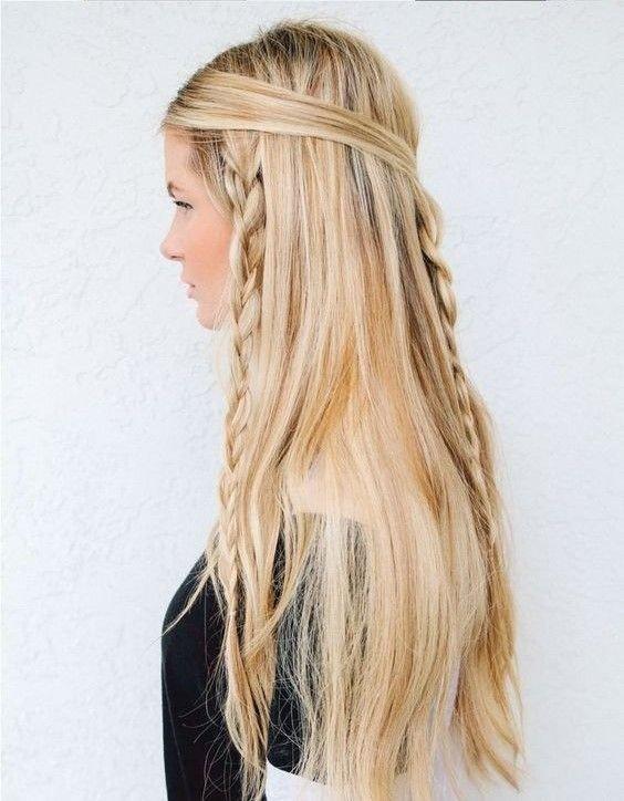 прически на длинные распущенные волосы фото