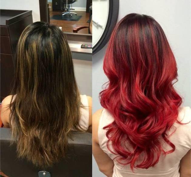 окрашивание волос меняет образ