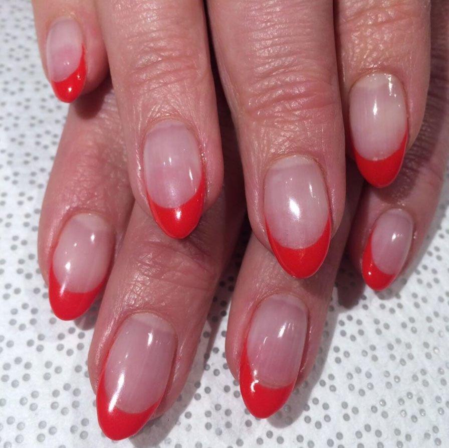 ногти френч на круглые ногти