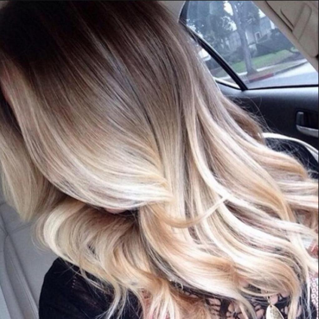 Тонирование для блондинок
