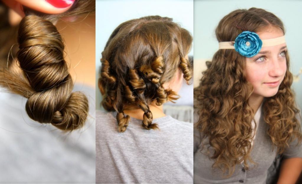 Накручивание волос без плойки и бигуди