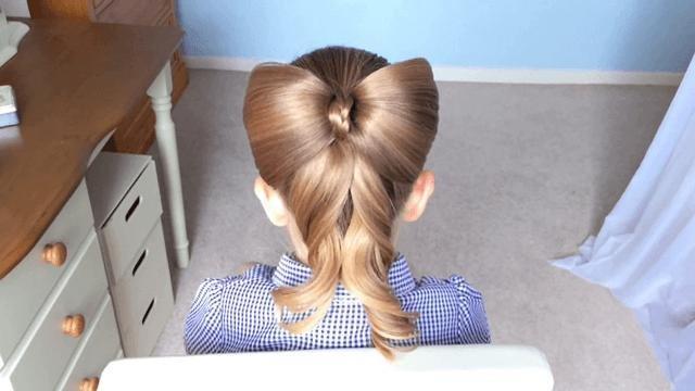 прическа на длинные волосы ребенку простая