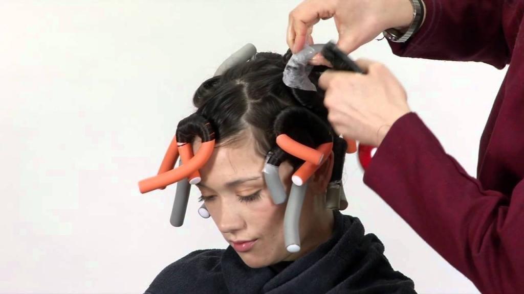 волны на короткие волосы бигуди