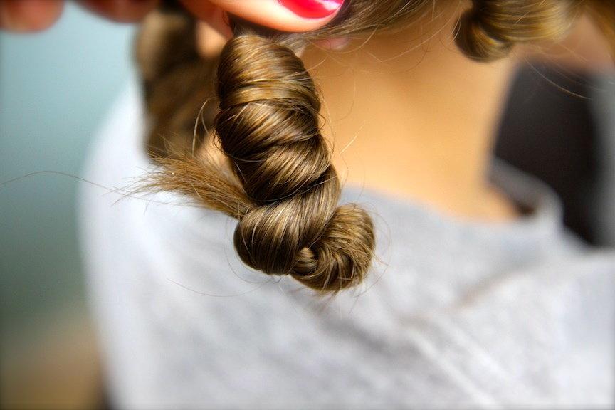 Накрутить длинные волосы