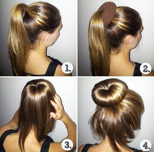 Накрутить волосы при помощи носка
