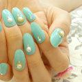 Мятные ногти: идеи мятного маникюра, дизайн в мятном цвете, фото
