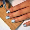 Модные идеи маникюра с точками