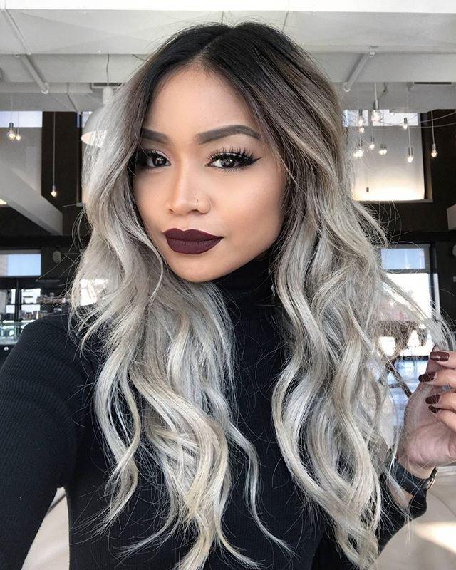 Балаяж на темные волосы