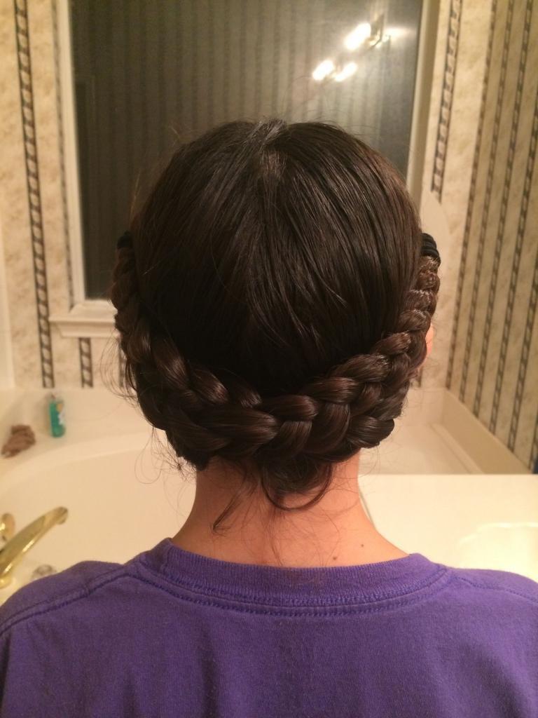 коса вокруг головы как плести