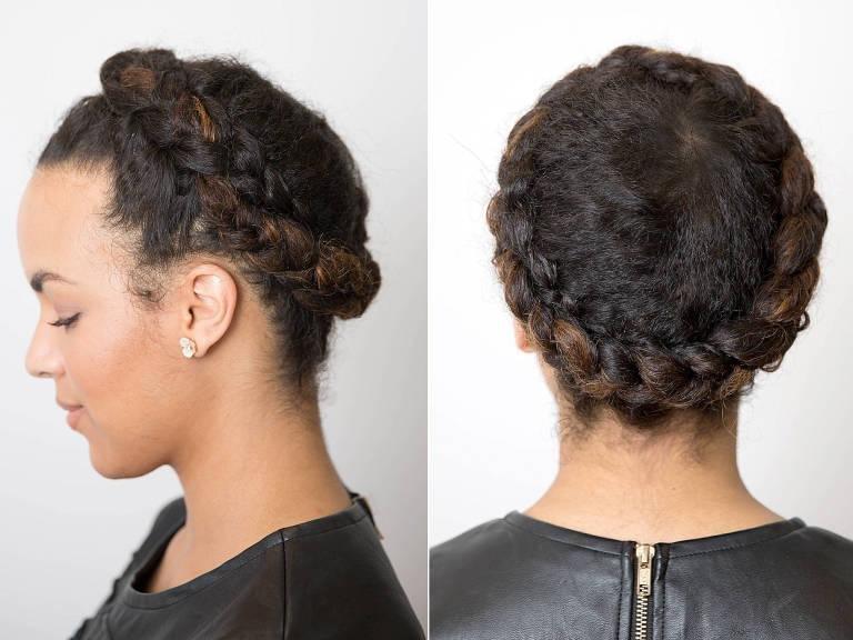 как заплетать косу вокруг головы