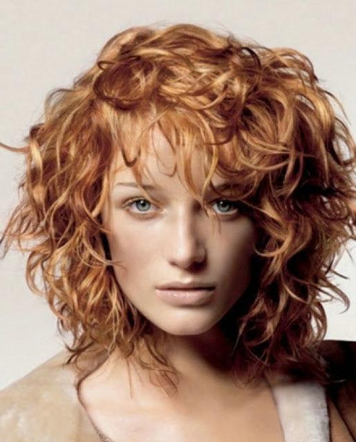 Каскад на волнистые волосы