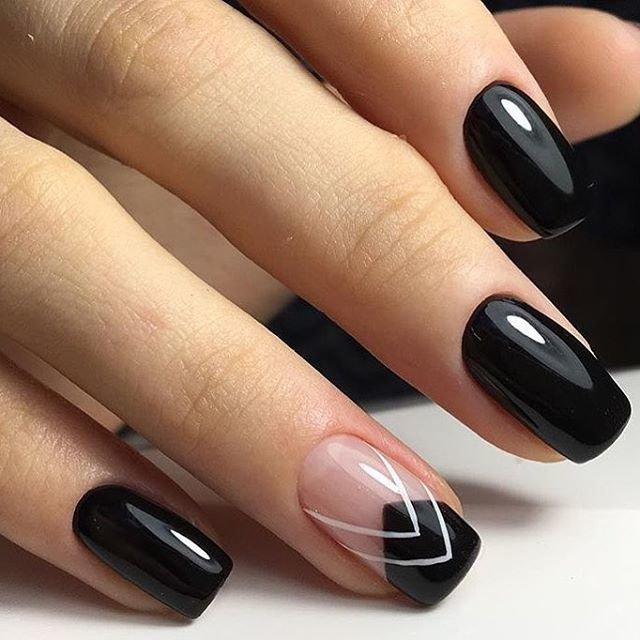 простой узор на ногтях