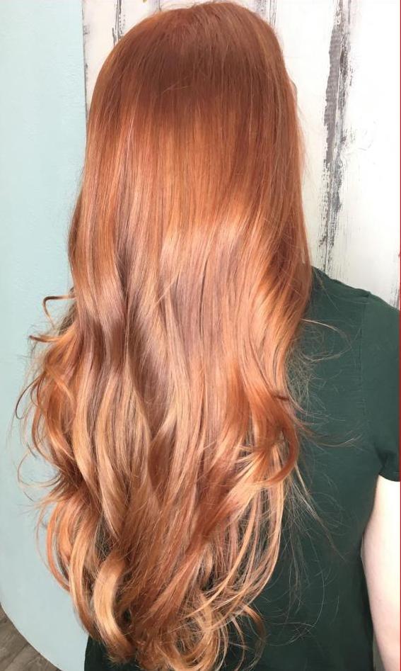 имбирный тон волос