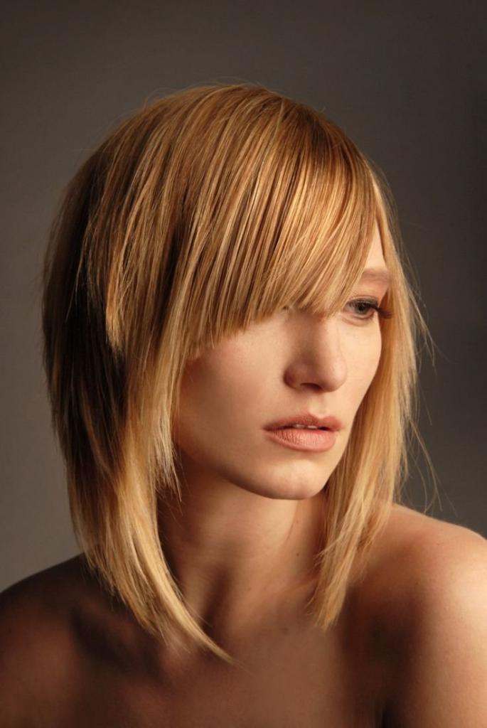 стрижка итальянка на волосы средней длины