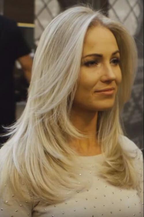 Лесенка на прямые волосы