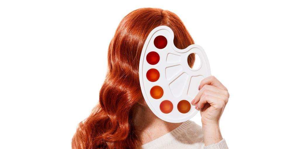 окраска волос рыжие оттенки