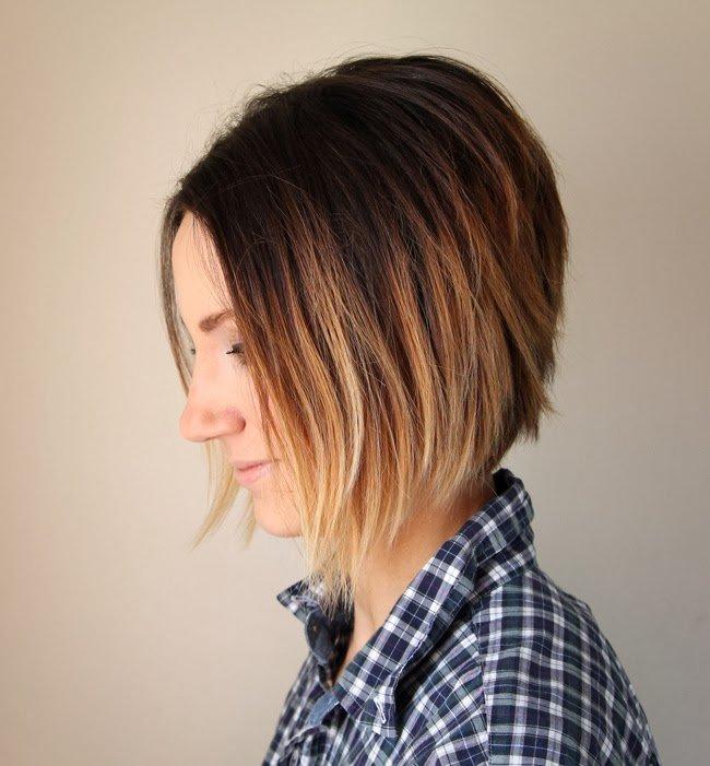 фото балаяж на короткие волосы
