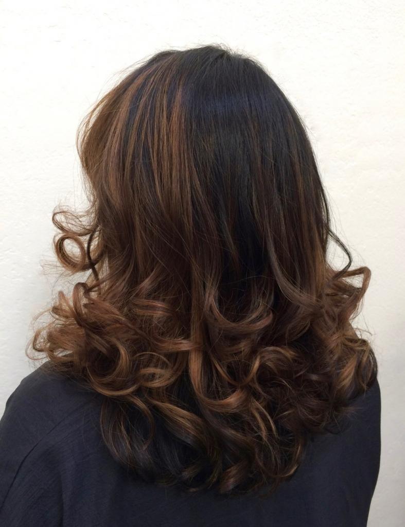 темный оттенок волос