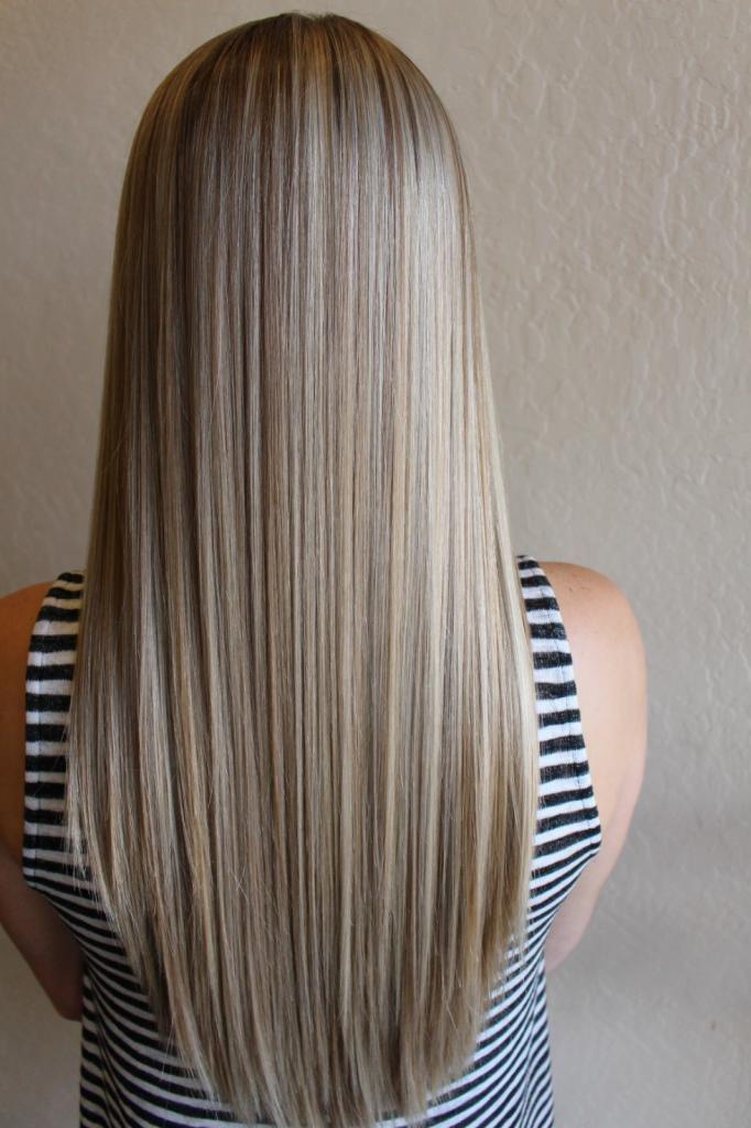 мелирование платиновый блонд