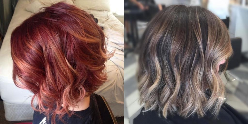 Варианты окрашивания волос средней длины