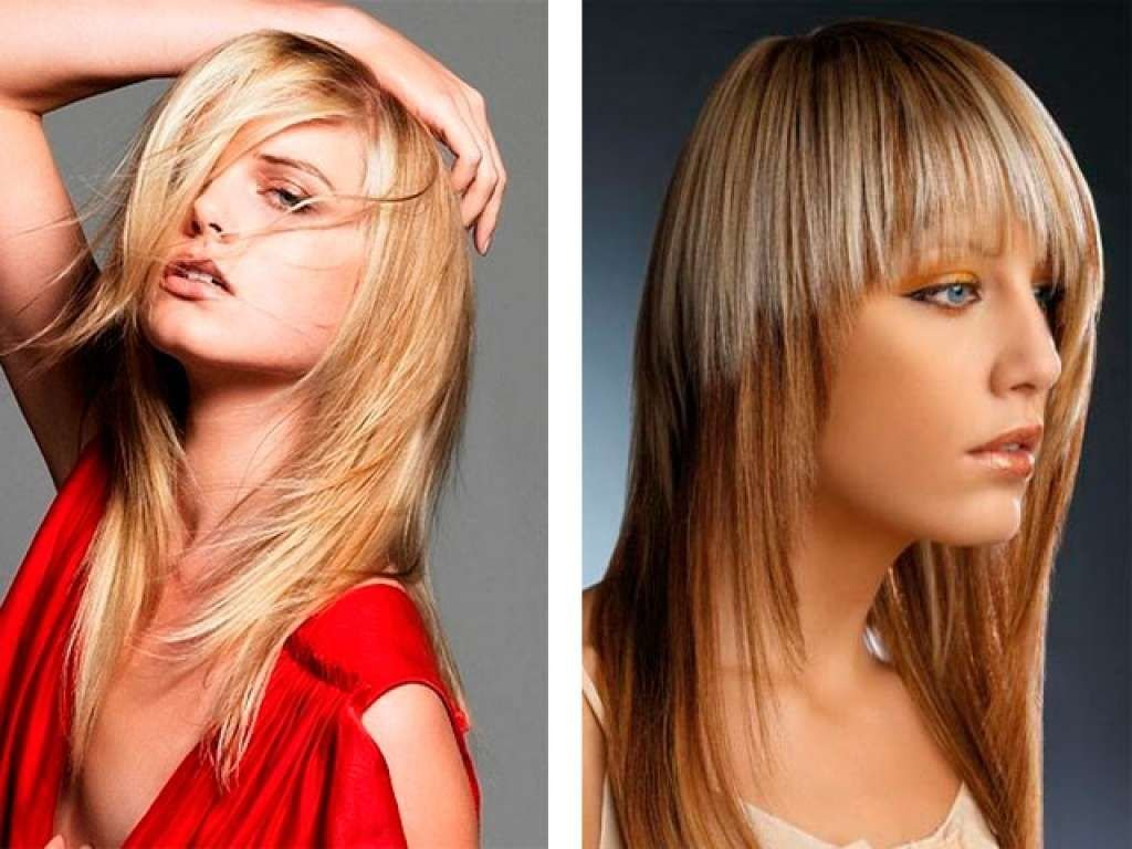 Стрижка волос для длинных волос с челкой