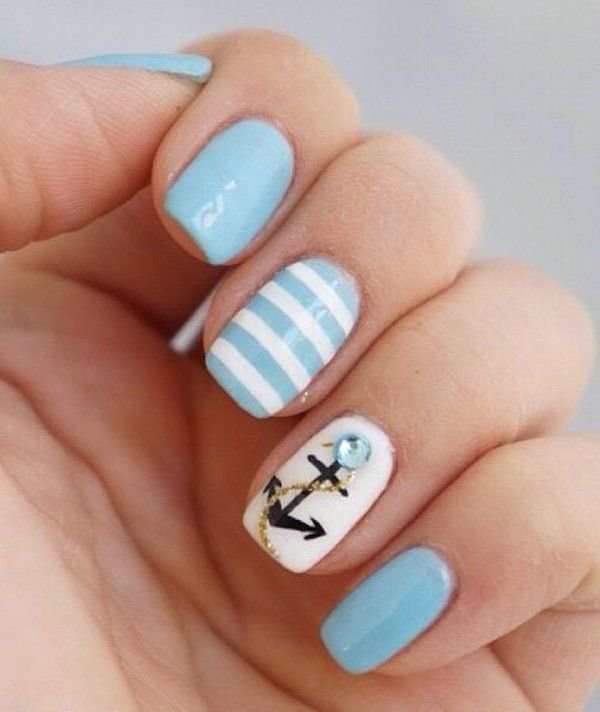 Маникюр на короткие ногти дома своими руками