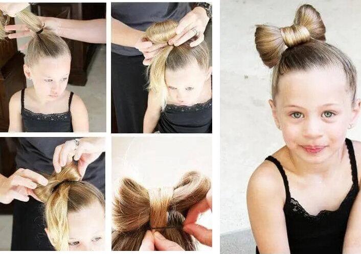 Бант из волос мастер-класс