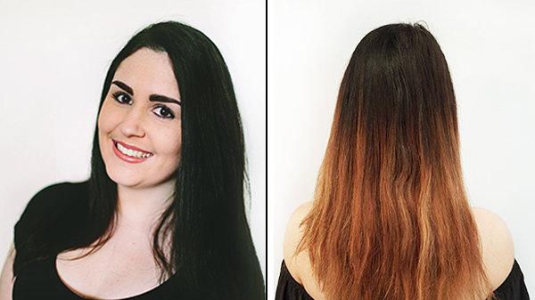 Осветление темных волос