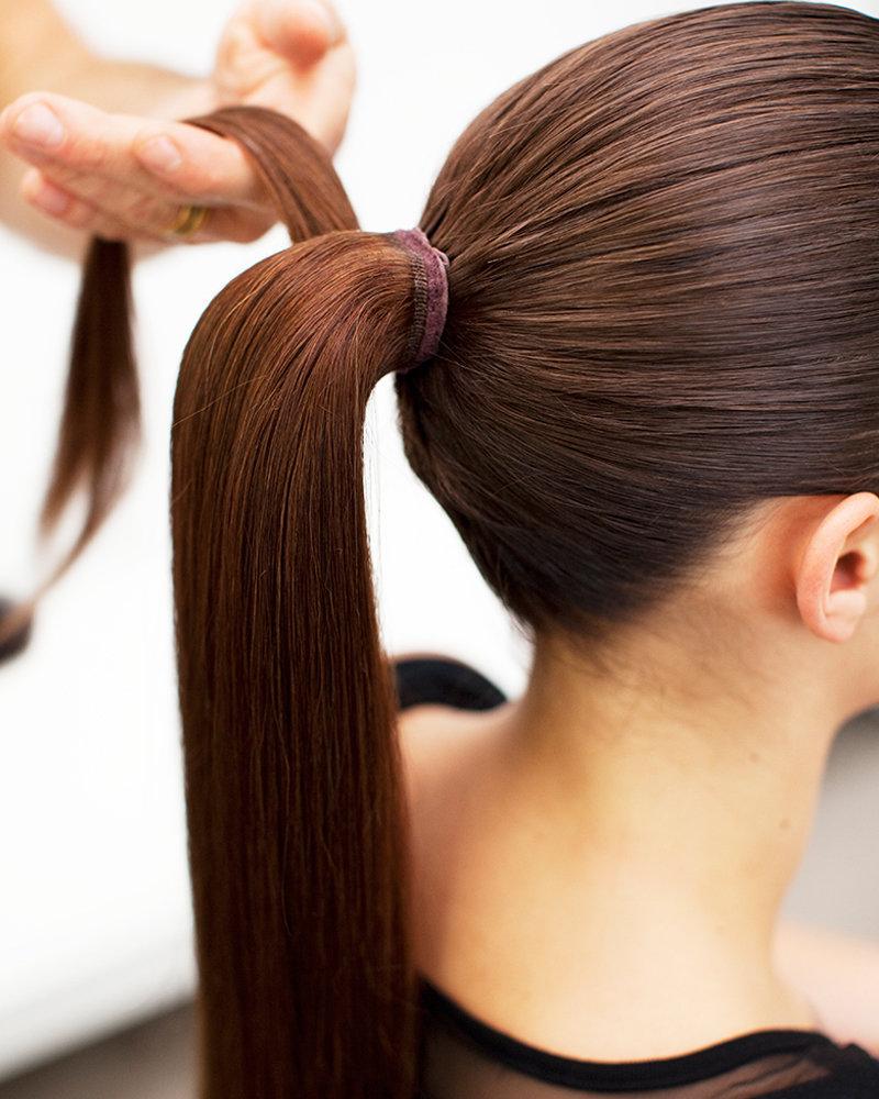 волосы конский хвост