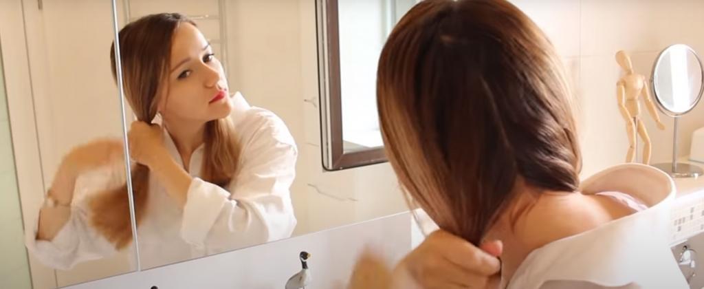 стрижка каре дома: деление волос на части