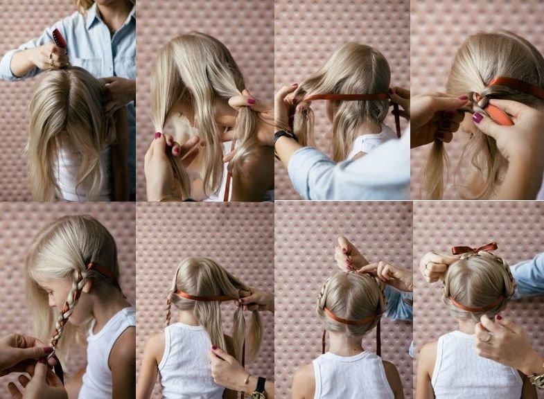 детские прически с плетением