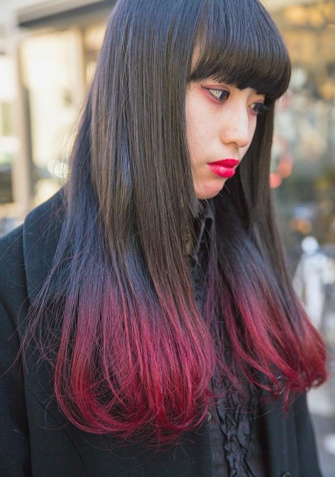 окрашивание темных прямых волос