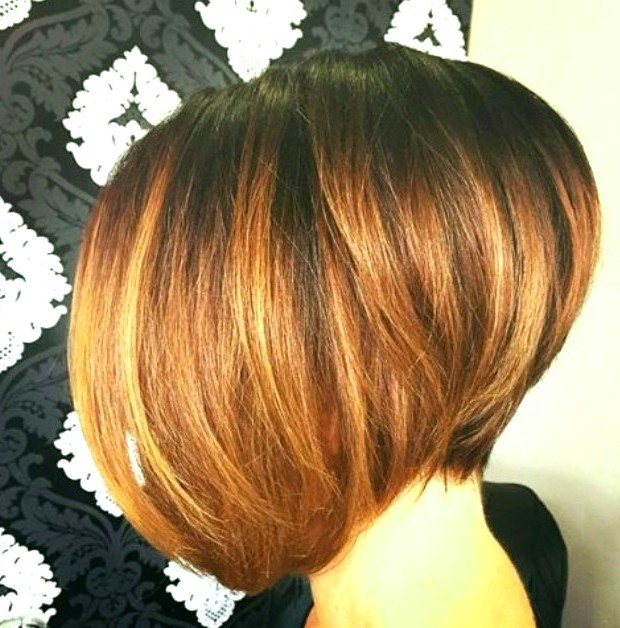 стрижка сессон градуированный на средние волосы