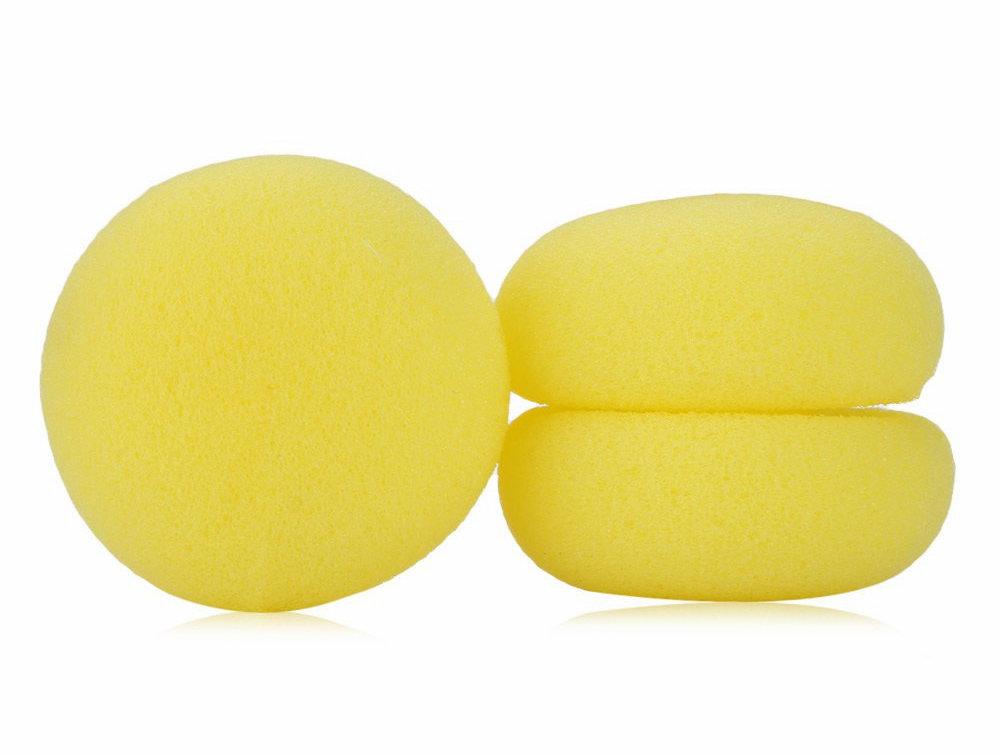 Паралоновые желтые шаровидные бигуди