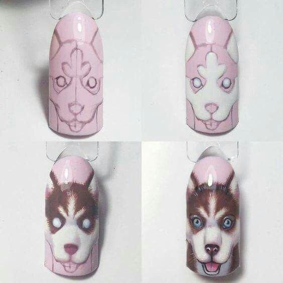 на ногтях рисунок животных