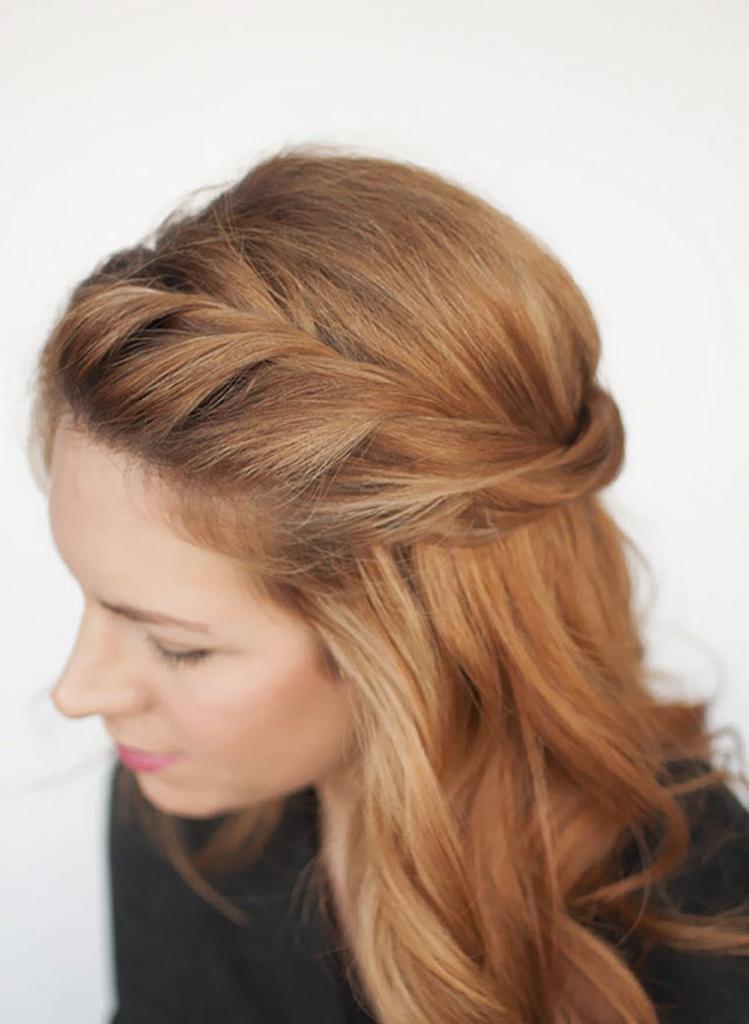 ободок из волос, жгуты