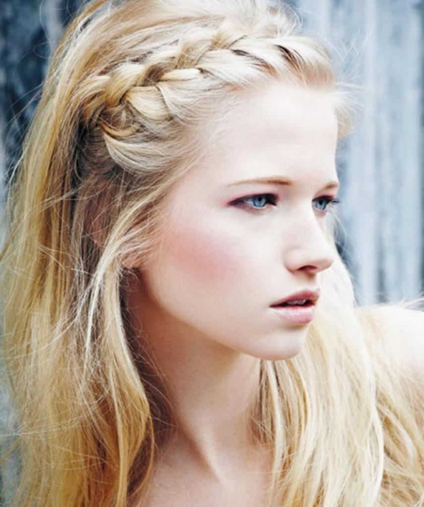 ободок из волос, косы