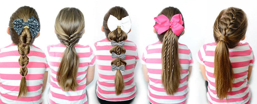 5 причесок для девочек