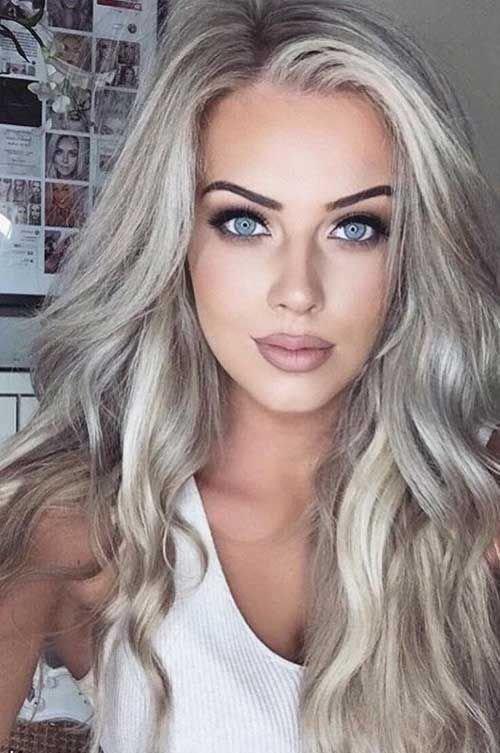Пепельно-платиновый блонд