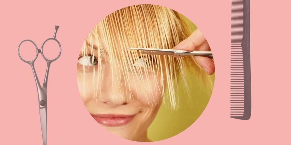 Как самостоятельно подстричь челку набок