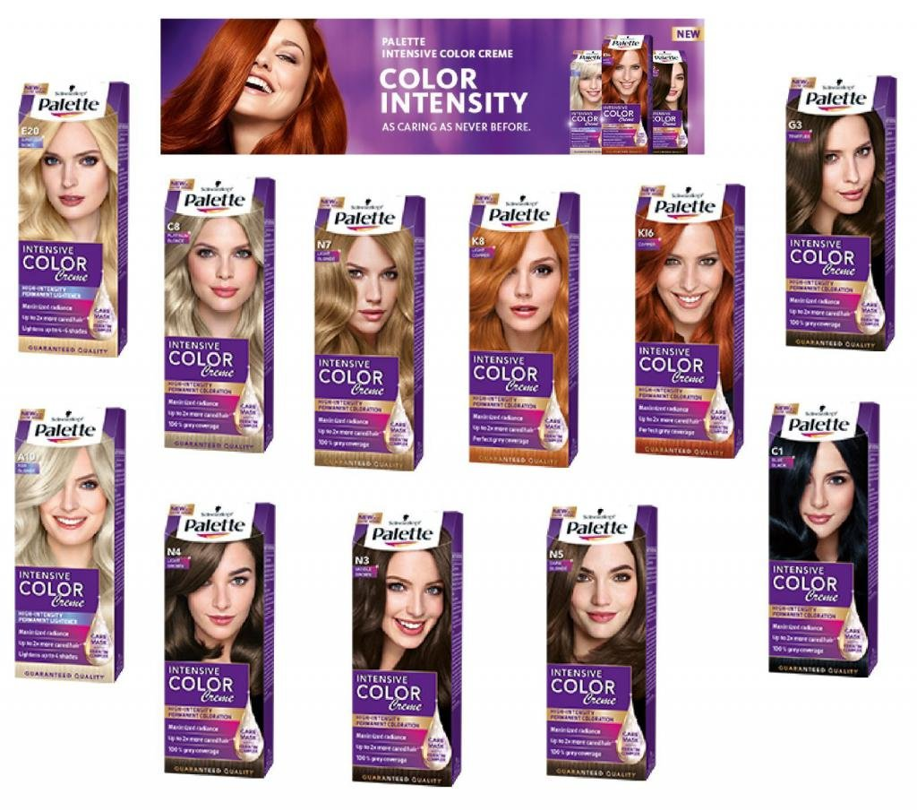 краска для волос палет