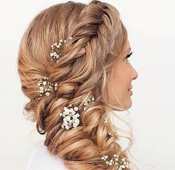 Греческая коса с декором