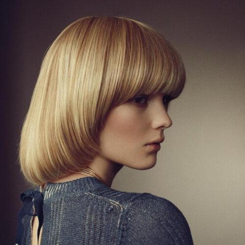 стрижки с короткой макушкой на средние волосы