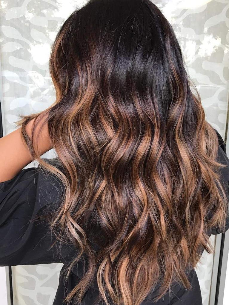 омбре цвет волос шатен
