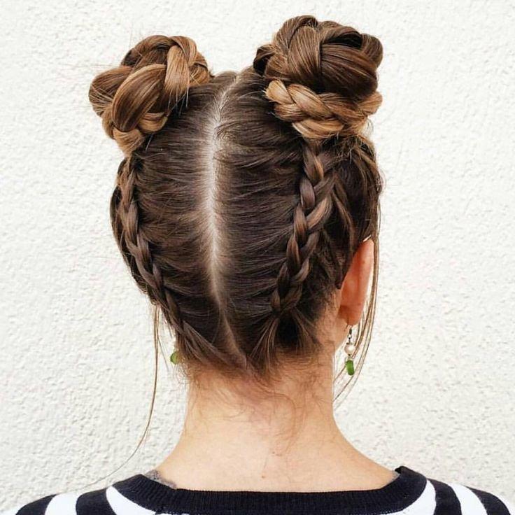 рожки на голове из волос