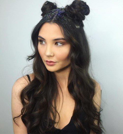 как сделать рожки из волос на голове